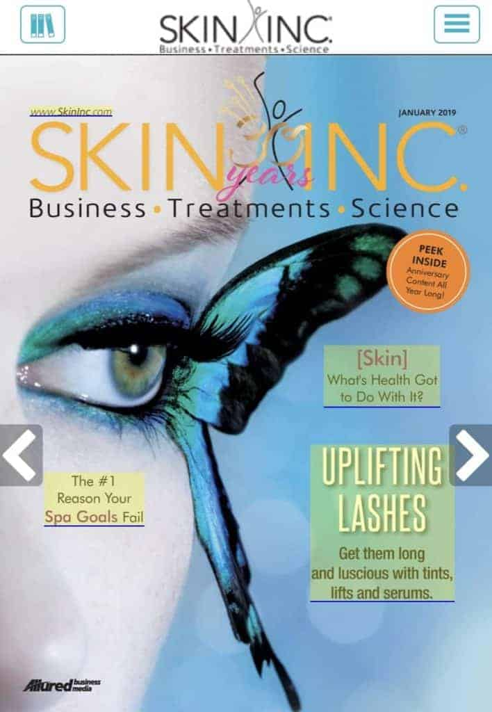 Revenue Ascend in January 2019 Skin Inc Magazine